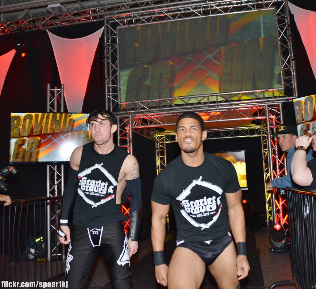 80a02ff7487 ... Scarlet and Graves (Dezmond Xavier and Zachary Wentz) with JT Davidson  vs Nation of