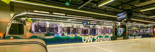 Chrome Train Panorama at University of Washington Station