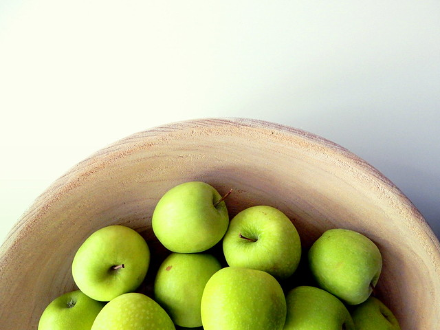 Just apples in a bowl