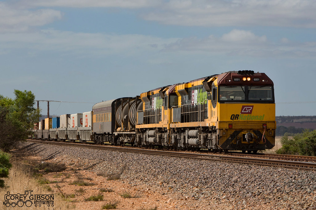 QR National 6001 & 6012 roll into the Rocky River loop with 5PM1 by Corey Gibson