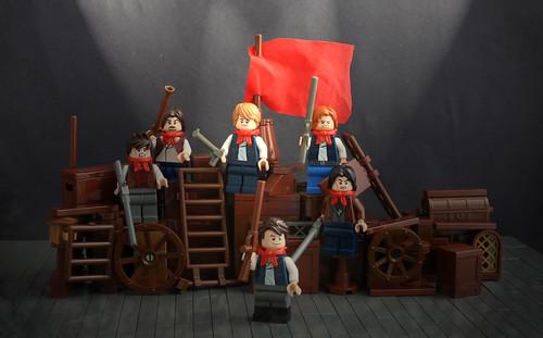 LEGO Les Miserables Theatre Scene