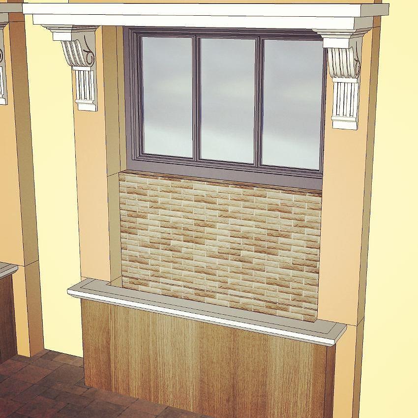 Window Frame Tabishereart Design Sketchup 3d Vray