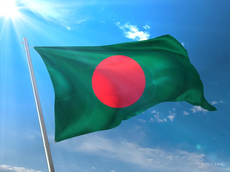 Photorealistic Flag of Bangladesh