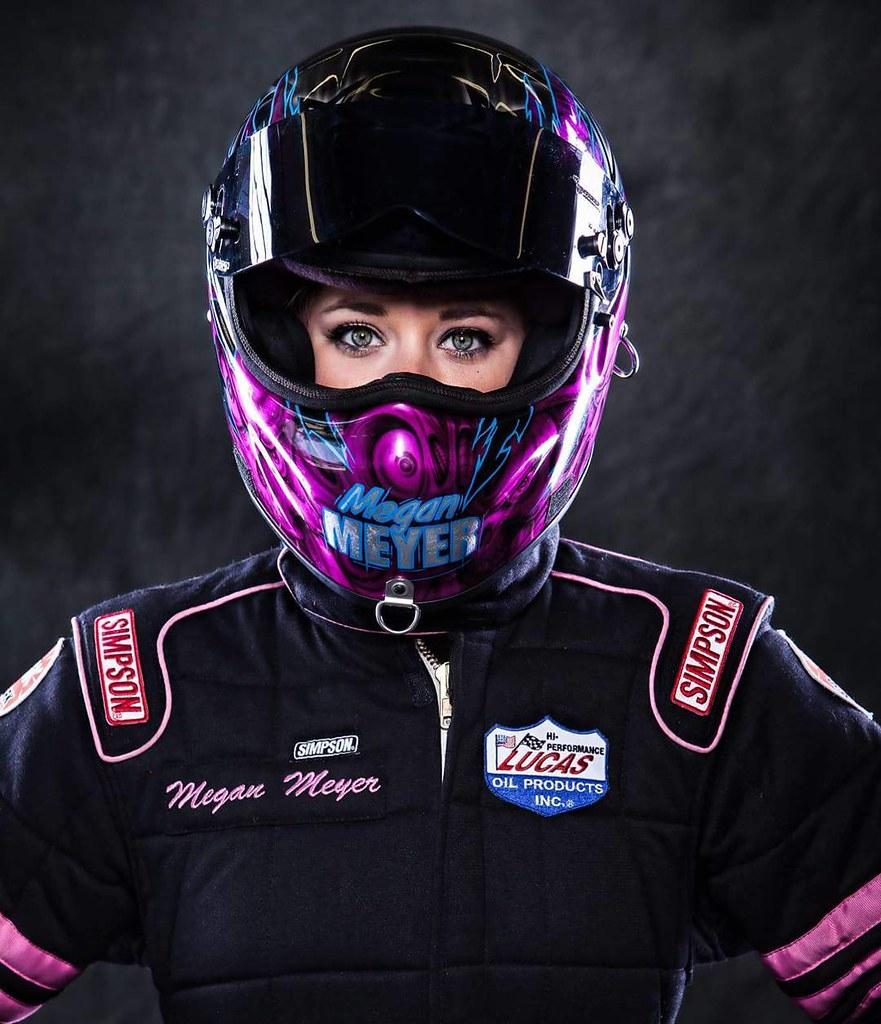 Drag Racing Helmets >> Model Meganmeyer Racing Nhra Drag Race Helmet Pink Flickr