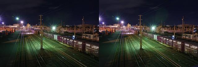 Sendai Kamotsu Terminal Station, stereo parallel view