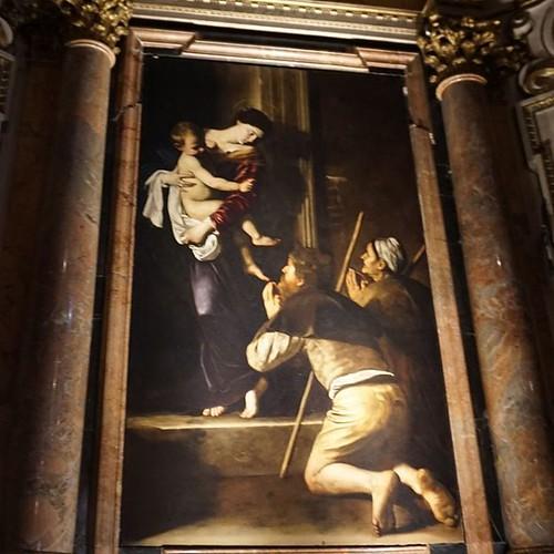 Madonna di Loreto by Caravaggio at my New favourite church in Rome  💓⛪ #caravaggio #art #churchesofrome #hiddengem #Rome #artinrome | by helipekkarinen