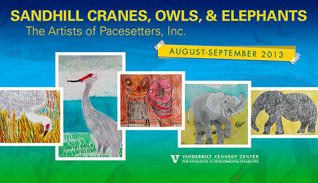 Sandhill Cranes, Owls, and Elephants [Art Exhibit 2013]