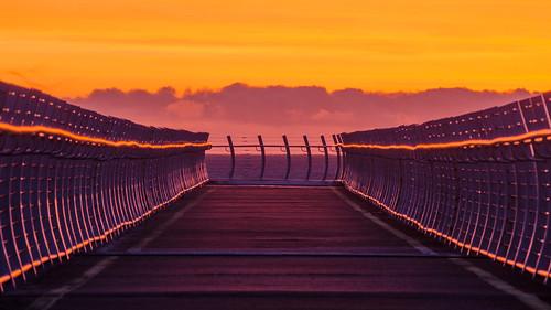 ocean morning pink sea sky orange canada west clouds sunrise point dawn coast bc pacific britishcolumbia victoria vancouverisland rails pt railings ogden breakwater ogdenpoint