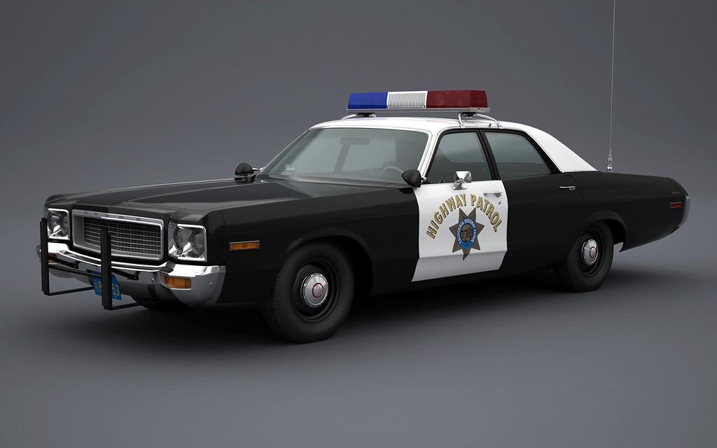 1973 Dodge Polara California Highway Patrol | Roof Hardware