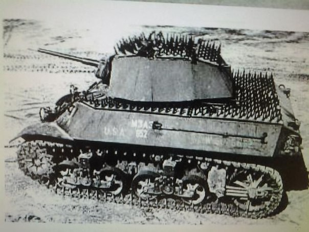 "Light tank M3 ""Stuart"" in the experimental protection"