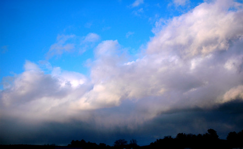 blue sunset sky cloud landscape 2006