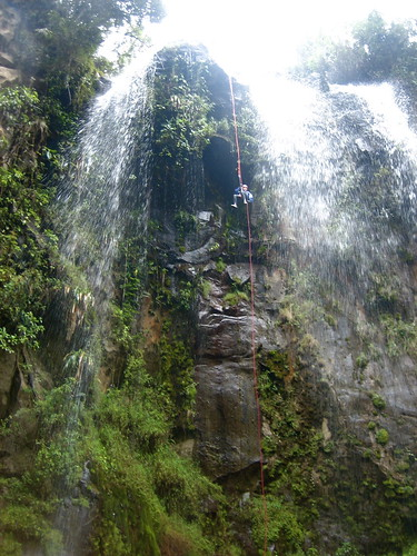 waterfall ecuador tonya canyoning baños