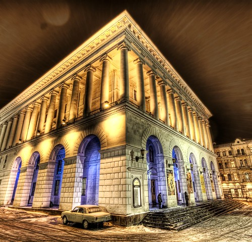 A Snowy Night at the Kiev Opera House by Trey Ratcliff