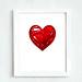 Printable crimson garnet heart 8 10