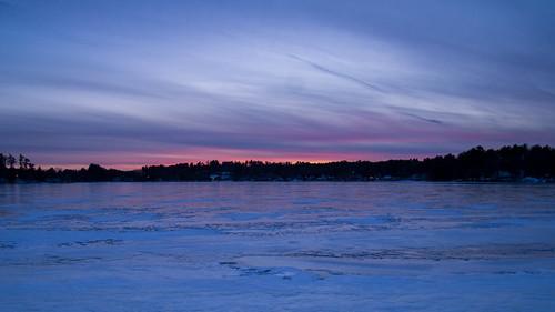 blue winter sunset color ice fire dusk