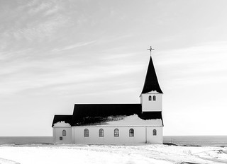 Black and white church Iceland | by Lenny K Photography