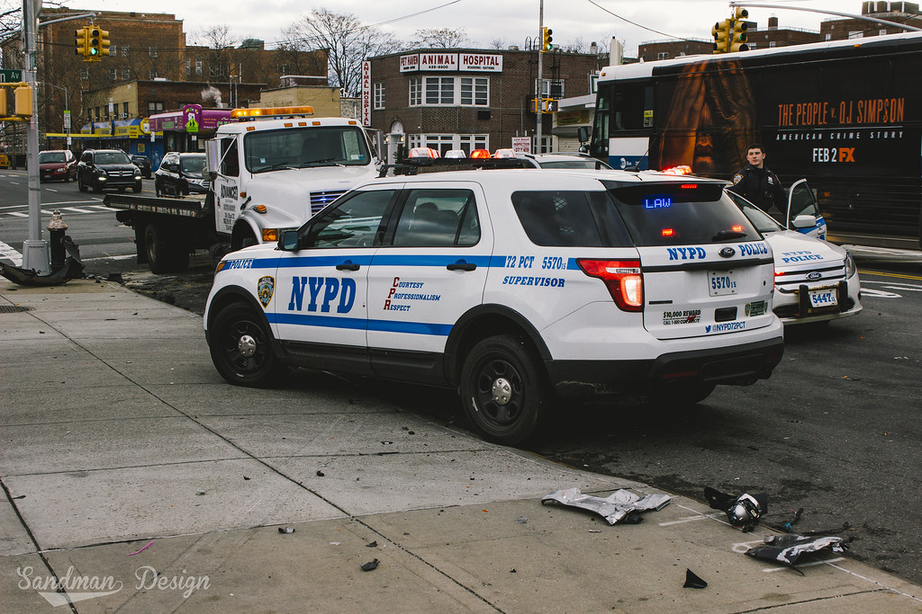 Car accident, NYPD supervisor Brooklyn, NY | Sandman Design
