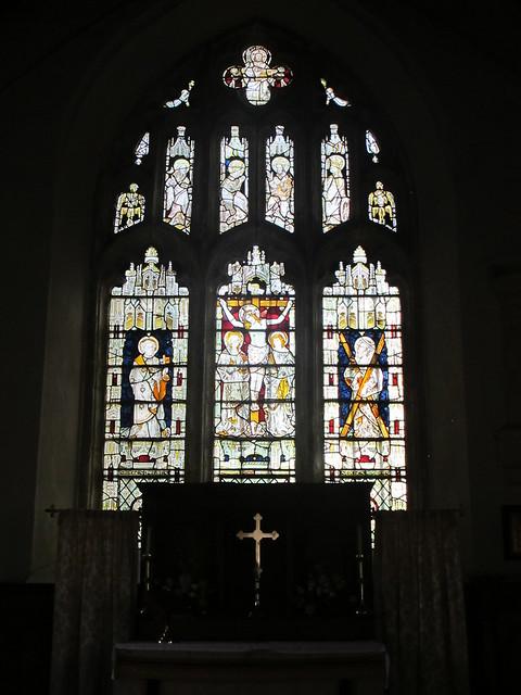 Altar stained glass window, St. Andrew's, Mottisfont SWC Walk 58 Mottisfont and Dunbridge to Romsey taken by Karen C.
