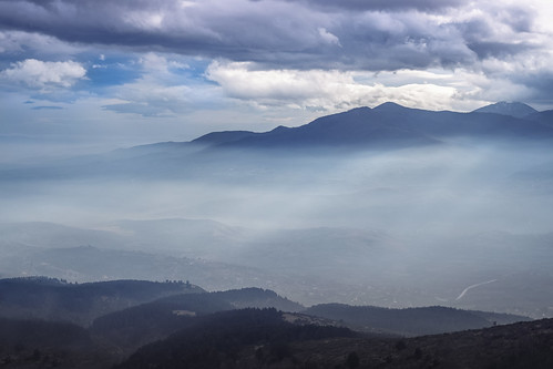 light mist mountain nature weather misty fog landscape foggy macedonia cloudscape vodno horison