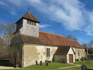 St. Andrew's, Mottisfont, from churchyard SWC Walk 58 Mottisfont and Dunbridge to Romsey taken by Karen C.