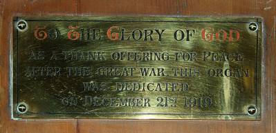 a thank offering for peace after the Great War