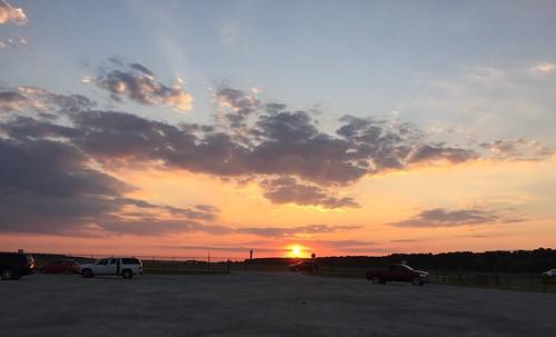 sunset clouds plane twilight may houston mayday iah