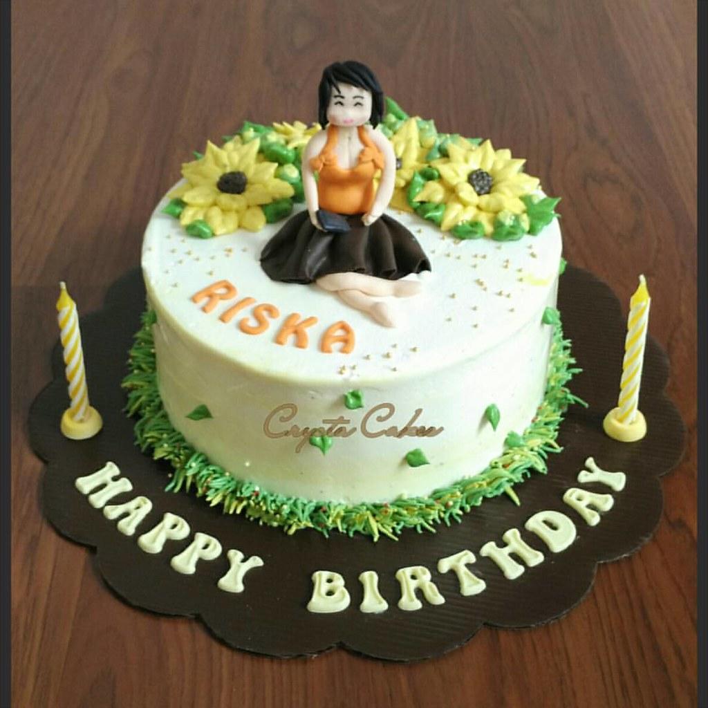Happy Birthday My Sister Enjoy The Cake Buttercreamfl Flickr