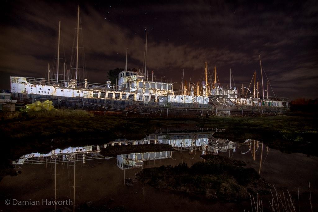 Lightpaint the Ghost Ship
