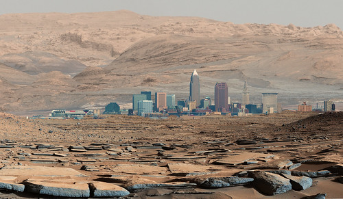 jeff® j3ffr3y copyright©byjeffreytaipale cleveland clevelandohio mars nasa panorama planet terraform explore exploration colonization space outerspace parody funny joke silly curiosity city skyline ngc