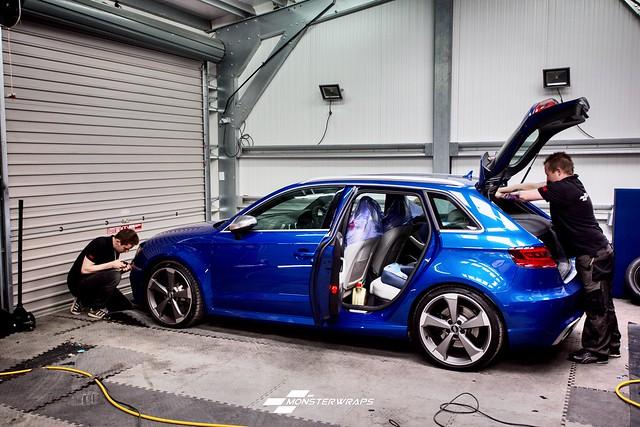 Audi RS3 Satin black wrap