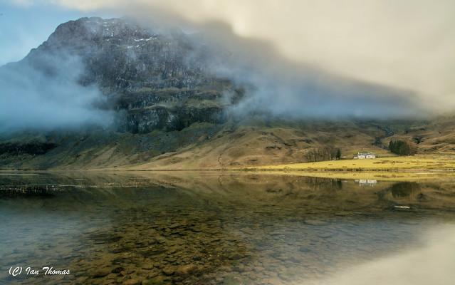 Mist Breaks To Expose Mountain Beauty .. Glen Coe