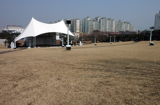 A stage for open air occasions in the park
