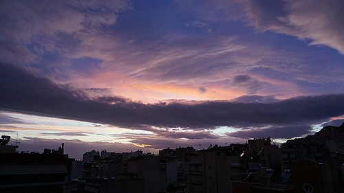 purple sunset sky cloud ουρανόσ ηλιοβασίλεμα χρώματα colors landscape greece ελλάσ
