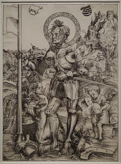 1506 - 'St. George' (Lucas Cranach the Elder), Wittenberg, Koninklijke Bibliotheek van België, Brussel, Belgium