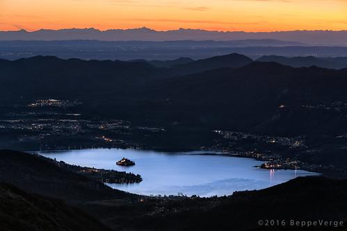 sunset alps landscape tramonto alpi lagodorta mottarone beppeverge