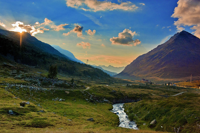Summer twilight time , The Diavolezza , Val Bernina , Graubünden , Switzerland. No. 8152.