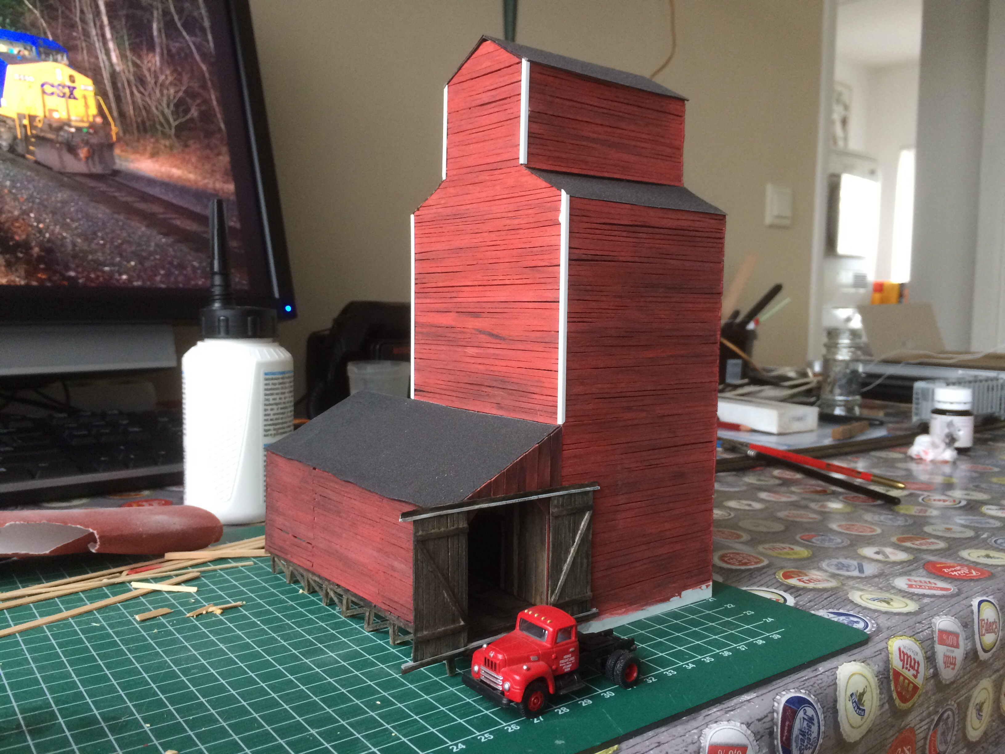 Scratch build grain elevator