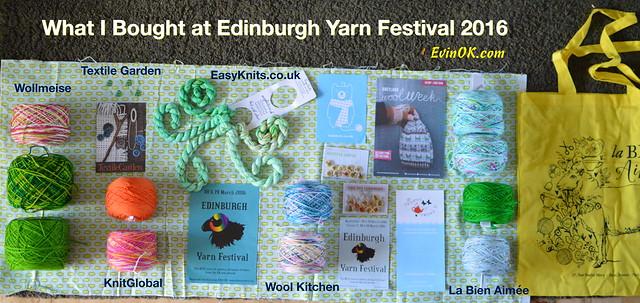 Edinburgh Yarn Festival 2016: What I Bought