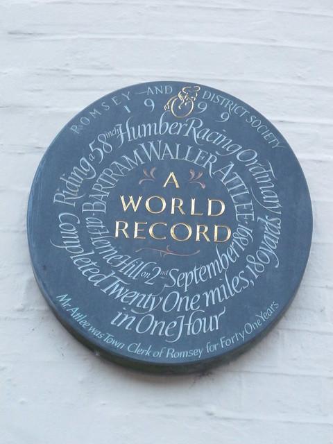 Plaque on Old Corn Exchange, Romsey SWC Walk 58 Mottisfont and Dunbridge to Romsey taken by Karen C.