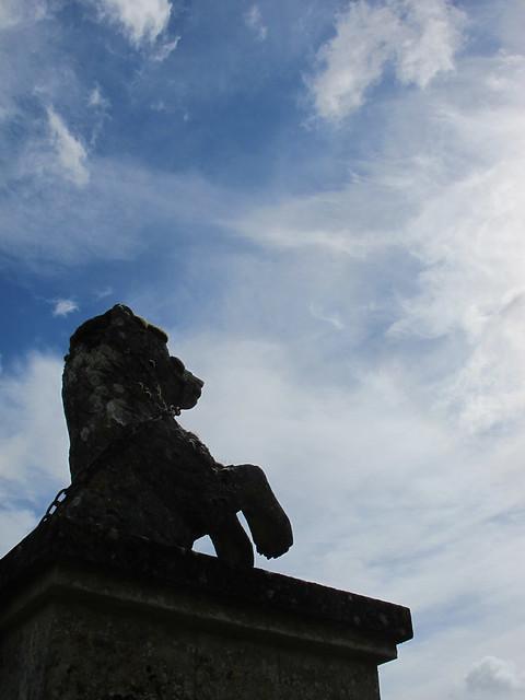 Armorial Beast, Mottisfont Abbey Gardens SWC Walk 58 Mottisfont and Dunbridge to Romsey taken by Karen C.