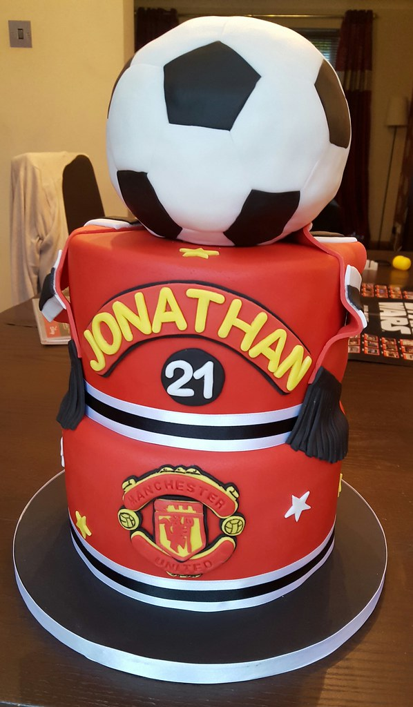 Tremendous Manchester United Birthday Cake A 3 Tier Manchester United Flickr Birthday Cards Printable Nowaargucafe Filternl