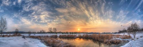 china blue winter wild sky panorama lake snow cold reflection nature water cn sunrise landscape nikon hdr d800 nikond800 jiangsusheng nanjingshi tamronsp1530f28