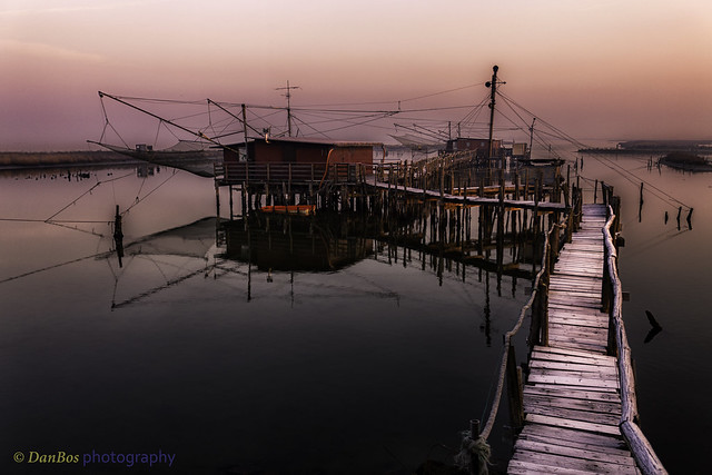 Winter Sunrise on the Comacchio Lagoon