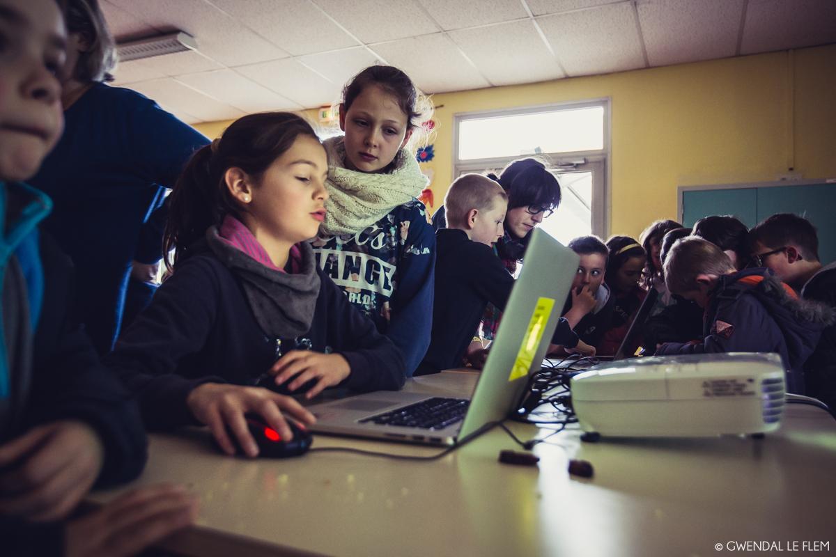 Goûter de présentation - Machinimas - Résidence en milieu scolaire par Isabelle Arvers // Photos par Gwendal Le Flem