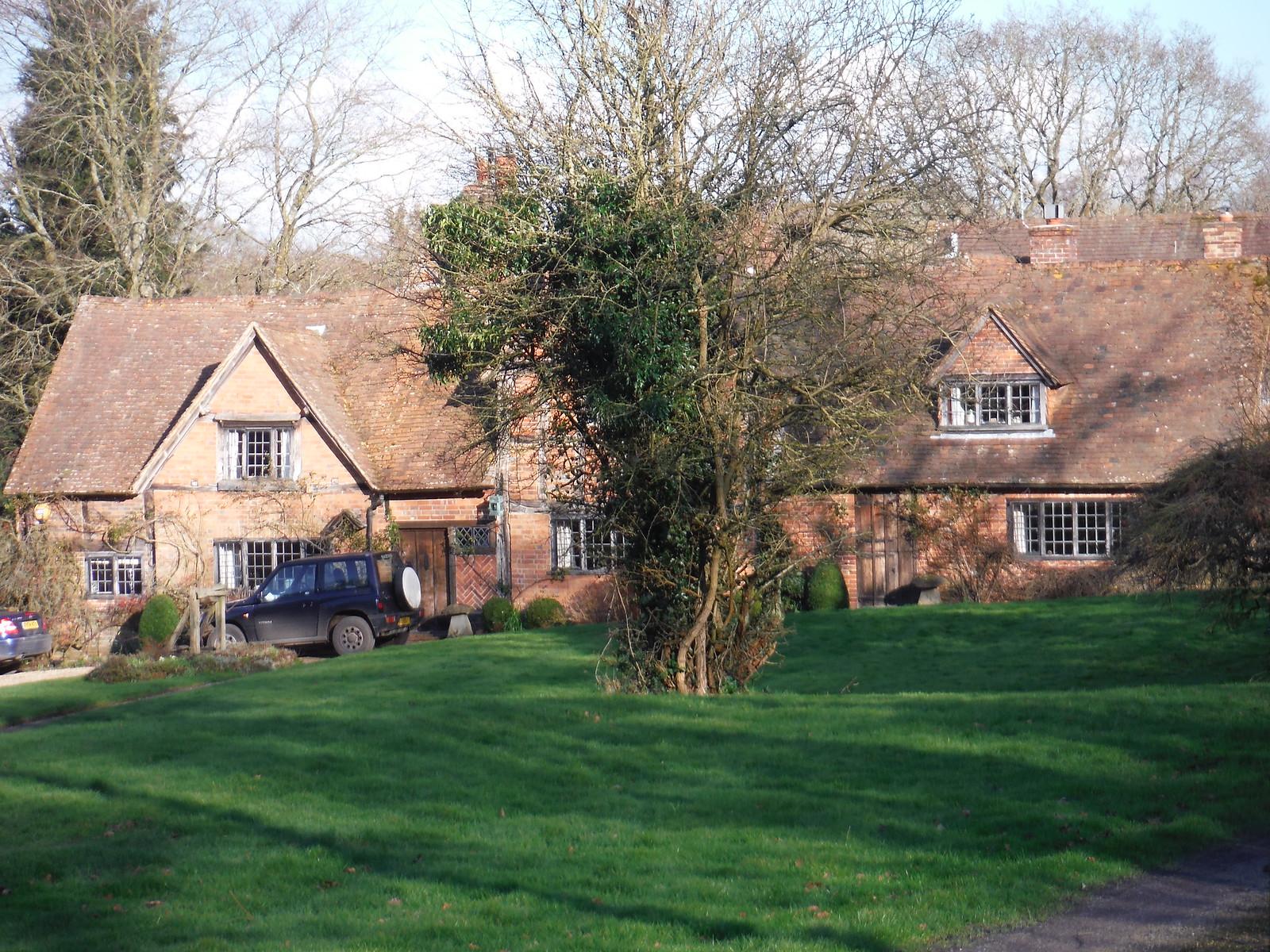 Timber-framed House, Upper Bucklebury SWC Walk 117 Aldermaston to Woolhampton (via Stanford Dingley)