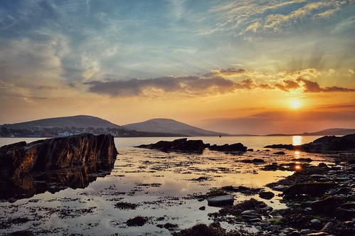 sunset sun seascape landscape ngc kerry beautifulsunset caherciveen kerrycoast hdrsunset seascapesunset reenard kerrysunset