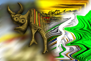 my abstract bull Picasso