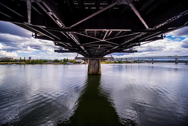 Under the Bridge - Hawthorne Bridge - Portland - Oregon