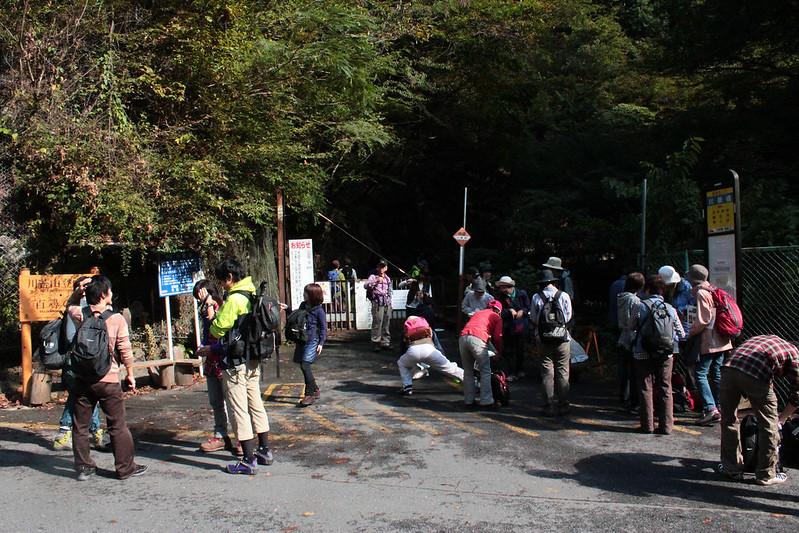 川乗橋のバス停