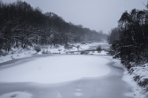 winter snow cold ice water weather creek